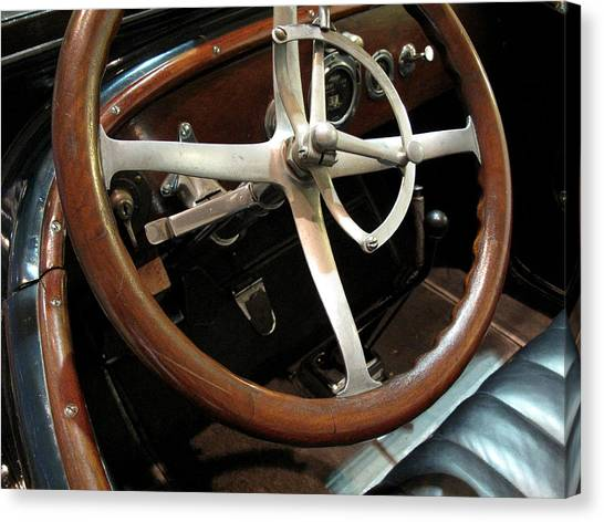 Antique Car Close-up 009 Canvas Print