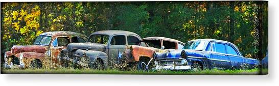 Antique Cars Graveyard Canvas Print