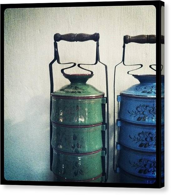 Asian Canvas Print - Antique Tiffin Carriers by Michael Ong