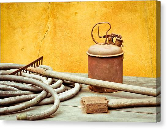Axes Canvas Print - Antique Tools by Tom Gowanlock