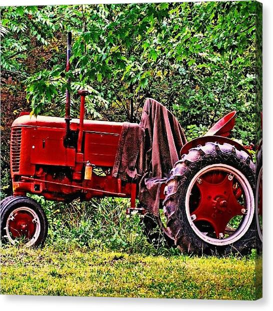 Tractors Canvas Print - #antique #tractor #farmequipment by Jami Tammerine