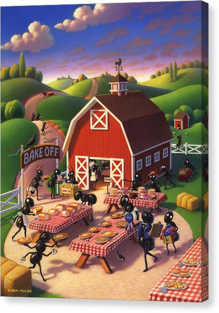 Ants Canvas Print - Ants At The Bake Off by Robin Moline