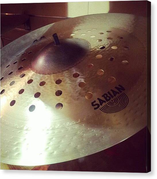 Percussion Instruments Canvas Print - Anyone Know The History Of Sabian? The by The Drum Shop