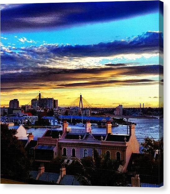 Saints Canvas Print - Anzac Bridge #instameetsydneymay2012 by Kendall Saint