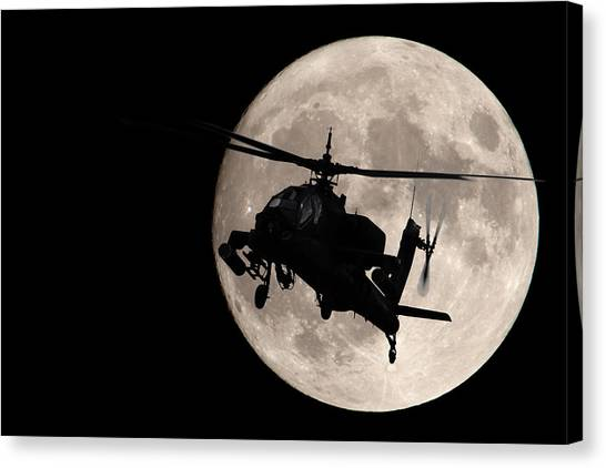 Apache In The Moonlight Canvas Print