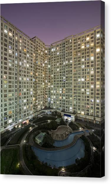 Apartments Canvas Print by Arnd Dewald