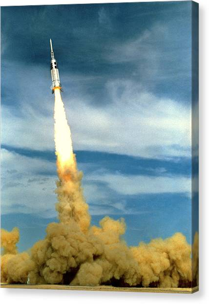 Missles Canvas Print - Apollo Mission Test by Nasa