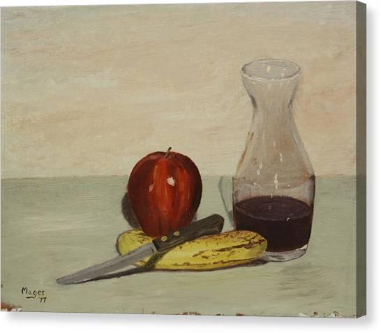 Apple And Banana Canvas Print