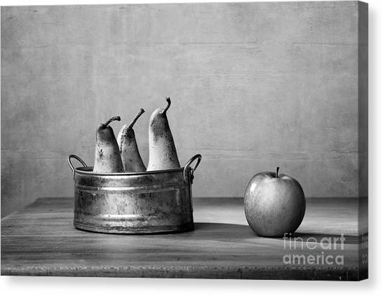 Pear Canvas Print - Apple And Pears 02 by Nailia Schwarz
