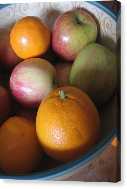 Apples And Oranges Canvas Print
