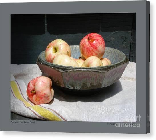 Apples In An Aerni Bowl Canvas Print