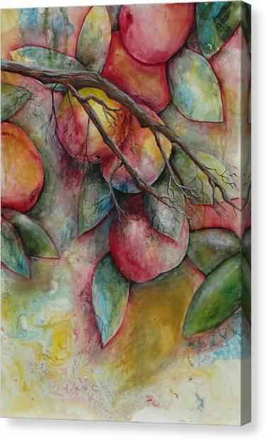 Apples On A Tree Canvas Print