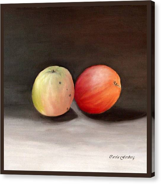 Apples Still Life Canvas Print by Carola Ann-Margret Forsberg