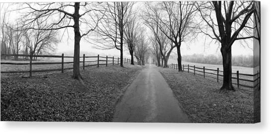 Araby Farm Lane Canvas Print by Jan W Faul