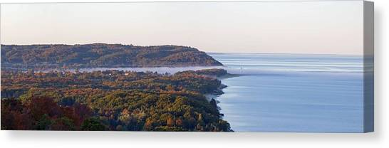 Lake Sunsets Canvas Print - Arcadia Michigan From Overlook by Twenty Two North Photography