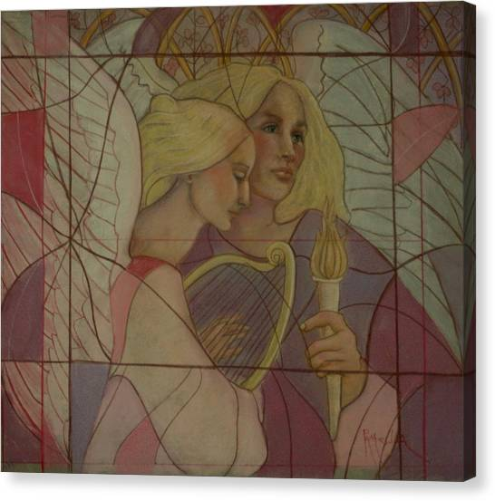 Archangel And Faith Canvas Print
