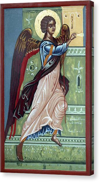 Archangel Gabriel Canvas Print by Anton Dimitrov