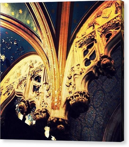 Medieval Art Canvas Print - Architectural Detail by Natasha Marco