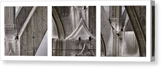 Architectural Detail Canvas Print - Architectural Detail Triptych by Carol Leigh