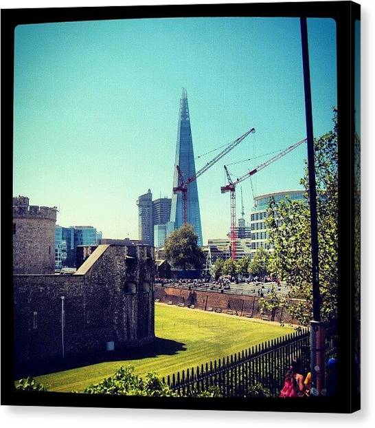 London Canvas Print - #architecture #london #uk #sky by Abdelrahman Alawwad
