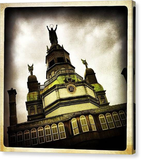 Quebec Canvas Print - #architecture #picoftheday #iphoneonly by Nicolas Marois