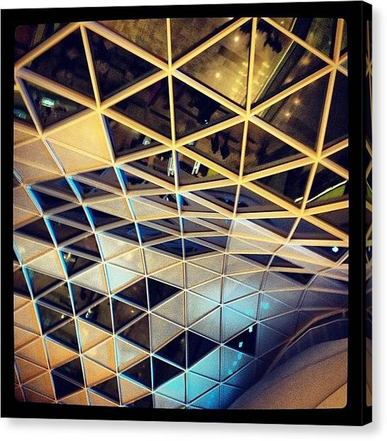 Triangles Canvas Print - #architecture #westfield #building by Matt Laity
