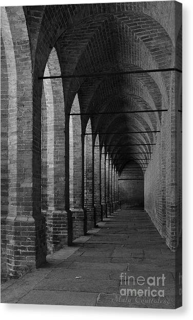 Archs At Lagenzia Pollenzo Canvas Print by Malu Couttolenc