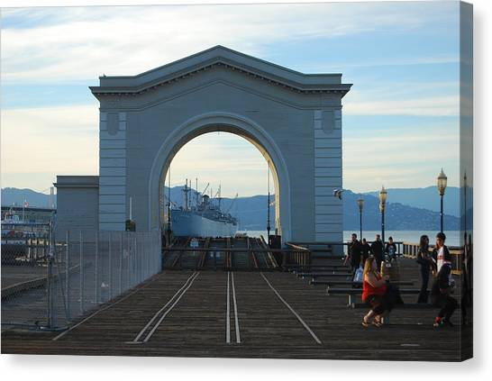 Archway Pier 39 San Francisco Canvas Print by Richard Adams