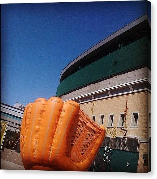 Stadiums Canvas Print - Are You Ready?! #large #baseball #glove by Hiroko Melodyheart