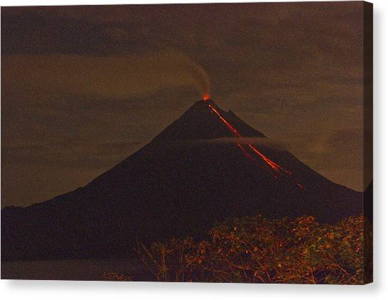 Arenal By Night Canvas Print