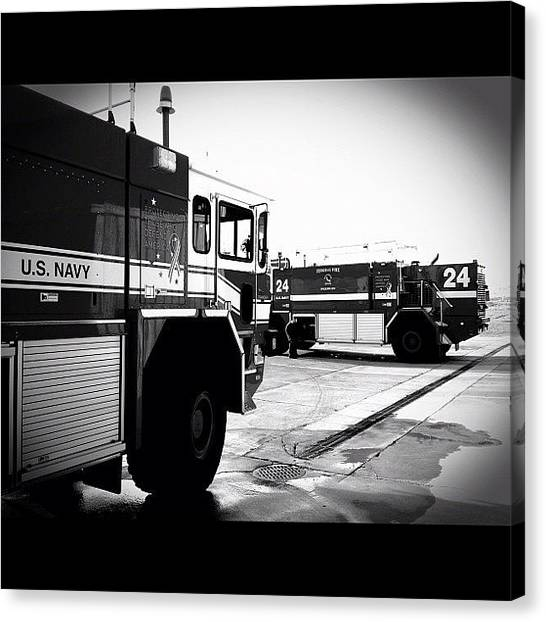 Firefighters Canvas Print - #arff #crash #fire #firefighter #rescue by James Crawshaw