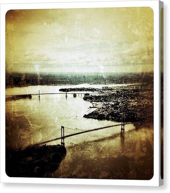 Nyc Skyline Canvas Print - Arial View by Natasha Marco