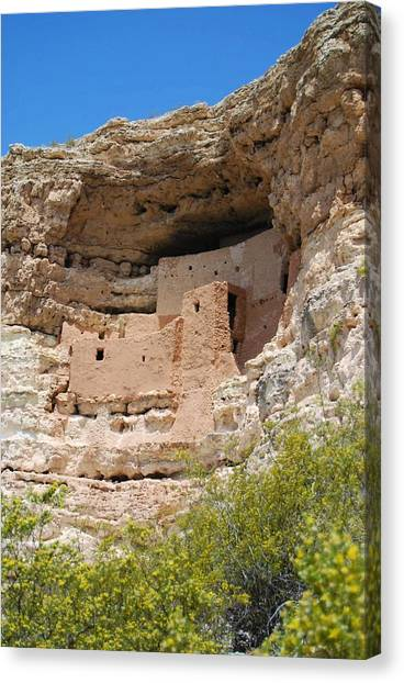 Arizona Cliff Dwellings Canvas Print