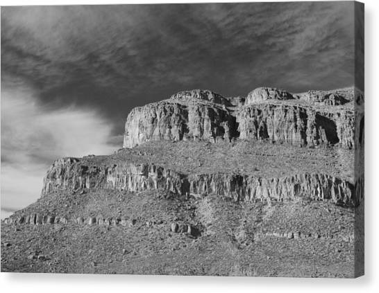 Mountain West Canvas Print - Arizona Dessert In Black And White by Twenty Two North Photography