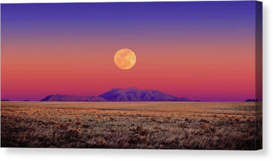 Arizona Full Moon Canvas Print