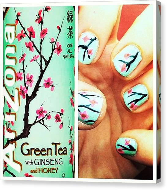 Tea Canvas Print - Arizona Nails by Britain Hayhurst