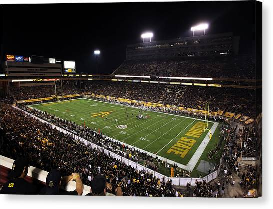 Pac 12 Canvas Print - Arizona State Sun Devil Stadium by Getty Images