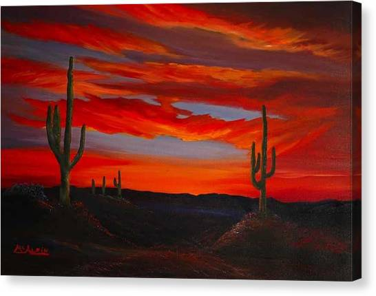 Arizona Sunset Canvas Print by Tom McAlpin