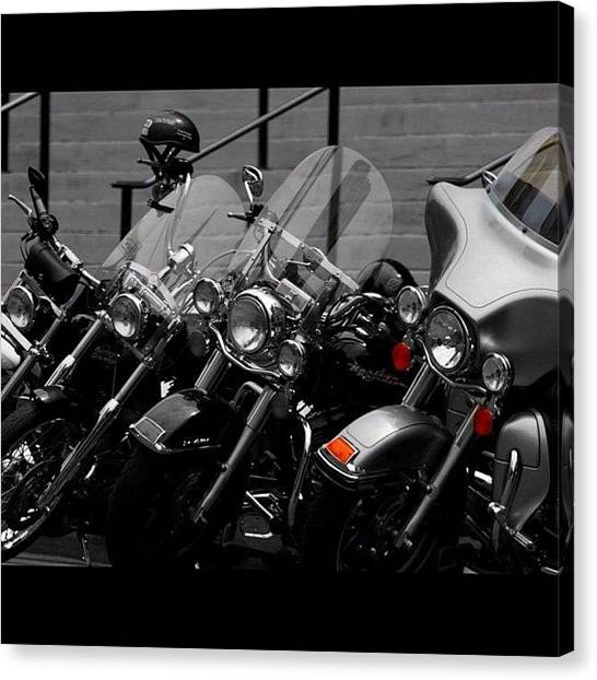 Biker Canvas Print - arlington - Biker's Haven by Niko Nister