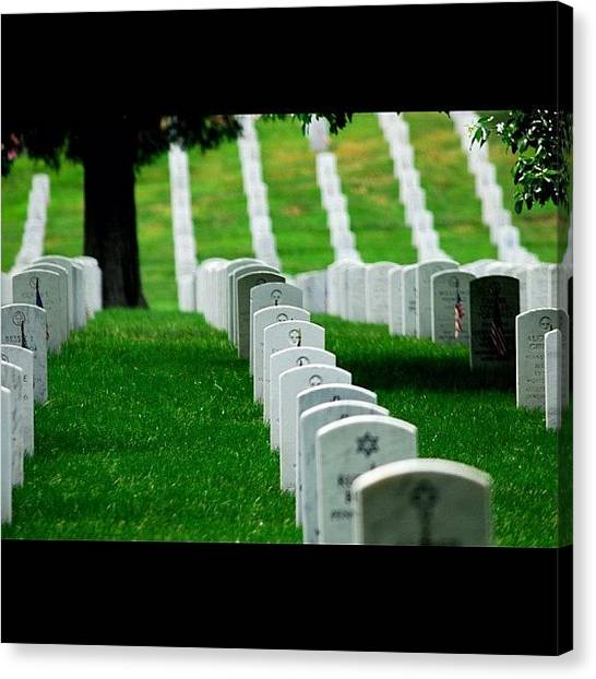 Soldiers Canvas Print - Arlington Cemetery - Virginia by Niko Nister