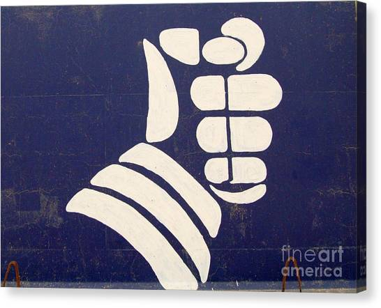 Armored Fist Canvas Print by Unknown
