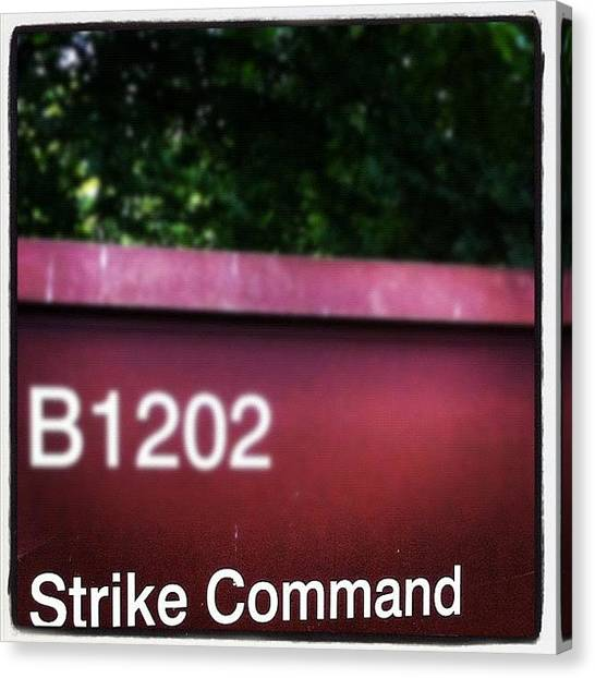 Bases Canvas Print - #army #action #secret #base #strike by Ben Lowe