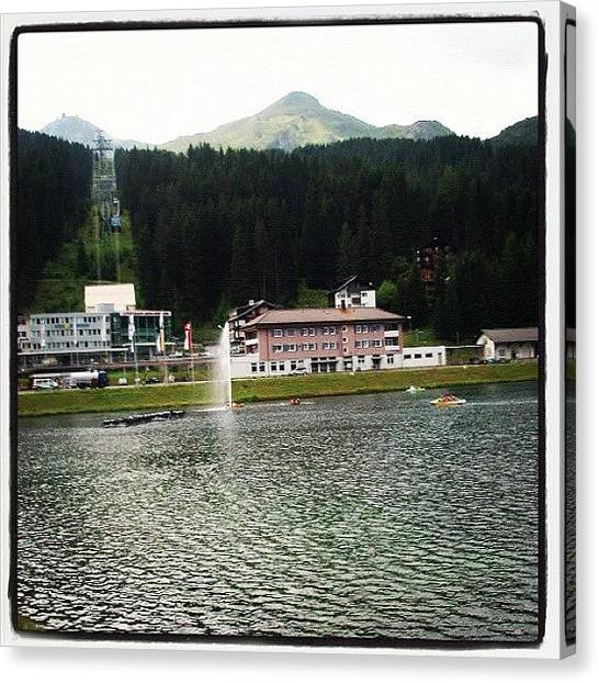 Swiss Canvas Print - #arosa #alps #swiss #oversee #amazing by Yiddy W