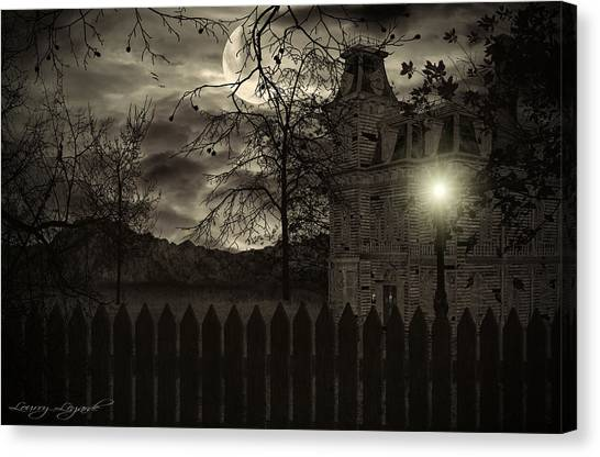 Haunted House Canvas Print - Arrival by Lourry Legarde