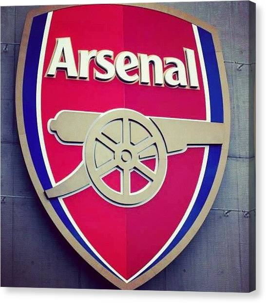 Stadiums Canvas Print - Arsenal #badge #afc #gunners #stadium by Paul Petey