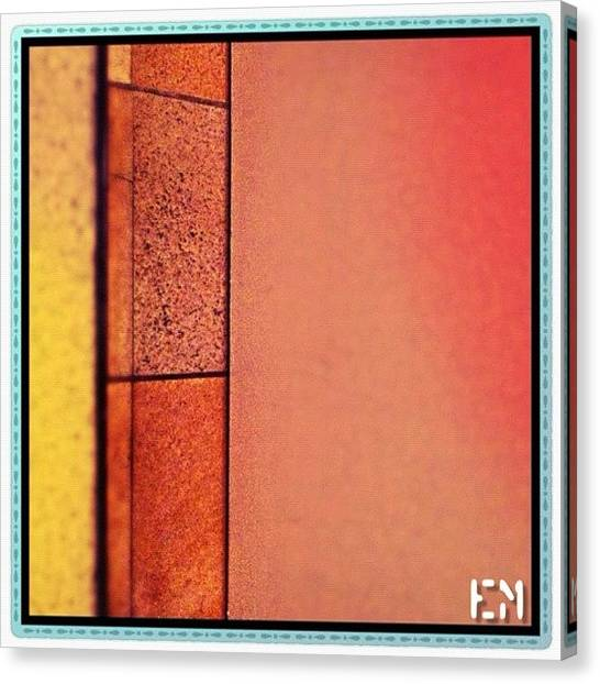 Swiss Canvas Print - #art #abstract #wood #mosaic #cement by Mr Etso