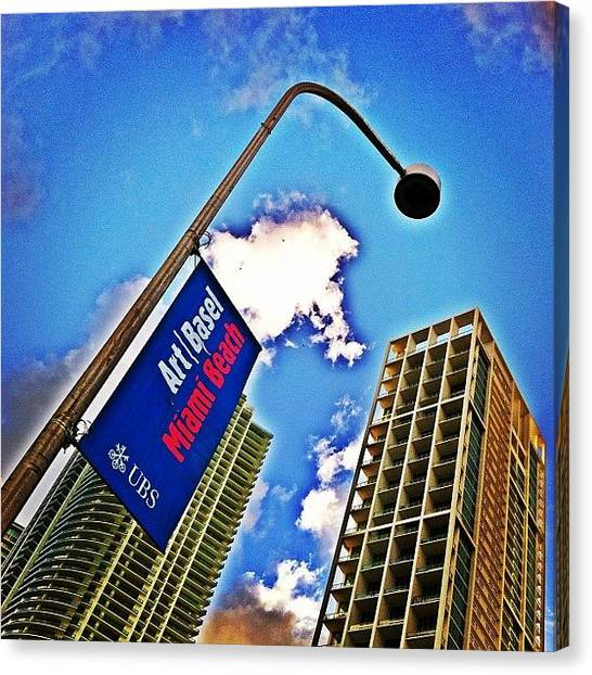 Skyline Canvas Print - Art Basel Miami Beach by Joel Lopez