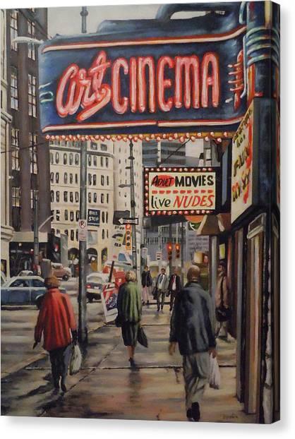Art Cinema Canvas Print