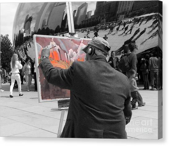 Cloudgate Canvas Print - Art Colors Life by David Bearden