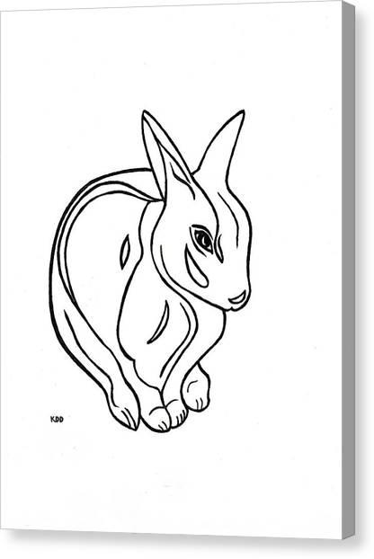 Art Deco Bunny Canvas Print